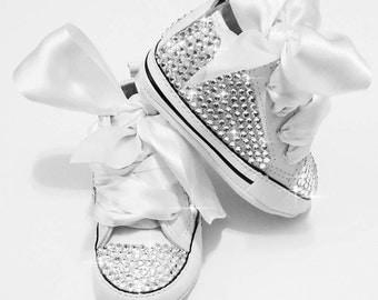 Custom baby converse, baby bling converse, baby shoes, swarovski baby shoes, baby converse with crystals, baby shower gift, baby girl gift