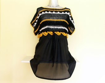 Tunic with crochet shell