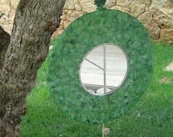 Hand-made Mosaic Sea glass mirror