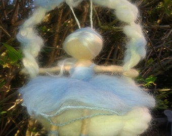Felted woolen figurine inspiration needle Waldorf Reverie