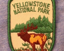 Yellowstone National Park Vintage Souvenir Travel Patch from Voyager - LAST ONE!