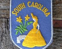 South Carolina Vintage Souvenir Travel Patch from Voyager