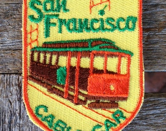 San Francisco Cable Car Vintage Souvenir Travel Patch from Voyager