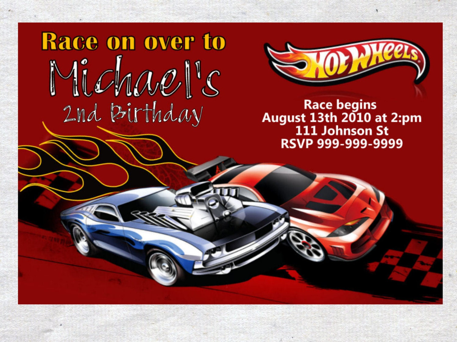 Hot Wheel Birthday Invitations is beautiful invitations template