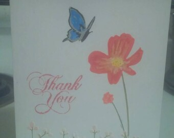 Hand colored thank you card