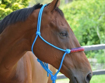 Rope halter with noseband