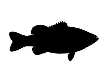 largemouth bass fishing vinyl diecut decal car truck window laptop sticker
