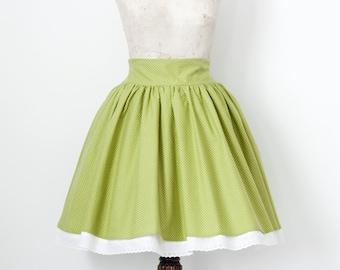 "Polka Dots Skirt, Vintage Lolita ""Sweet Party"""