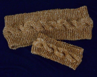 gold/rust headband and scarf