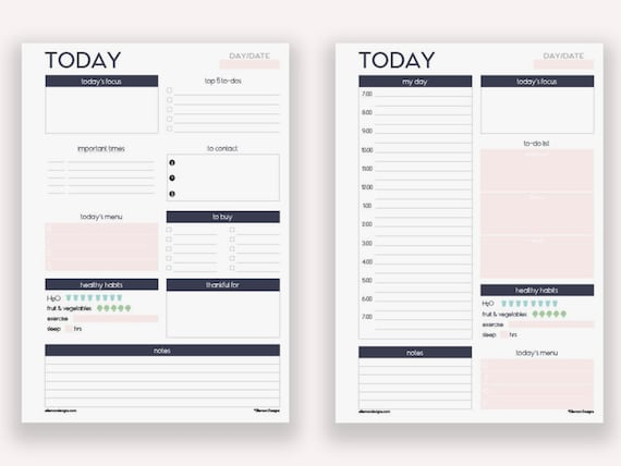 Tactueux image with a5 planner printables