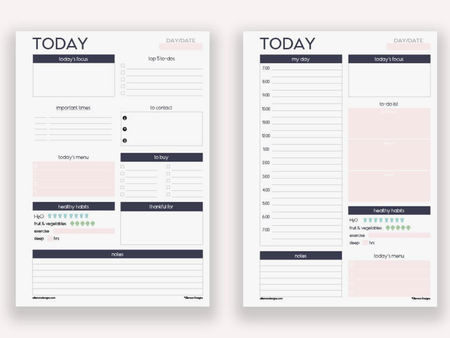 This is an image of Irresistible Planner Page Template