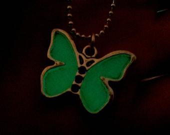 Glow in the Dark Butterfly Choker Necklace