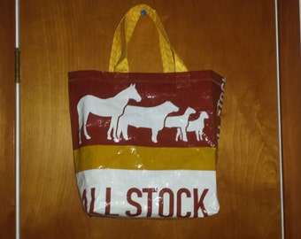Upcycled Feed Bag Tote Bag