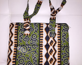 Padded African print laptop bags