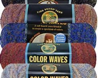 Yarn - Lion Brand Color Waves  Night Sky, Mai Tai, or Purple Vista