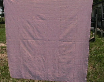 Pink Tablecloth Damask Wedding Cottage Chic Romantic Vintage Mid Century Kitch