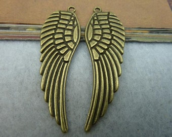 5pcs/16*48mm 2 color Wings Pendant BM-02
