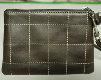Wristlet Unique Design Top Quality Made in USA Brown