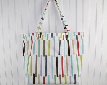 Modern Print Big Farmers Market Bag, Large Tote Bag, Reusable Grocery Bag, MK125