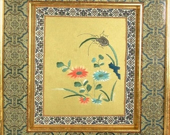 Silk Embroidery Textile Art Picture