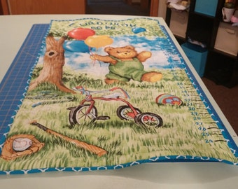 """Quilted """"Corduroy"""" Wall Hanging Height Chart"""