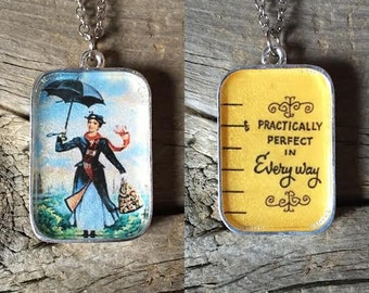 Reversible Mary Poppins Pendant Necklace