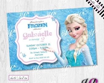 Fz02 i frozen birthday invitation