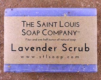 Lavender Scrub Soap –  Vegan Soap, Fragrance Free Soap, All Natural Soap, Hand Made Soap, Essential Oil Soap, Scrub Soap, Exfoliation Soap