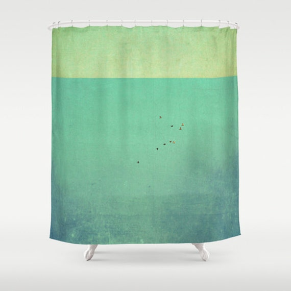 curtain clouds curtain white green turquoise mint curtain photo