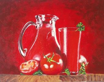 With salt - Still life, acrylic&canvas, 25x18 cm, 2013