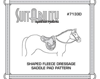 PDF Fleece Dressage Shaped Saddle Pad Pattern