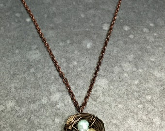 Bronze Birdsnest Necklace