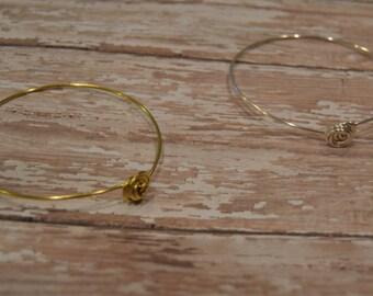 Rosette Wire Bracelet - Minimalist Wire Bracelet