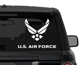 US Air Force decal sticker for car, truck, suv, laptop in ANY COLOR die cut vinyl
