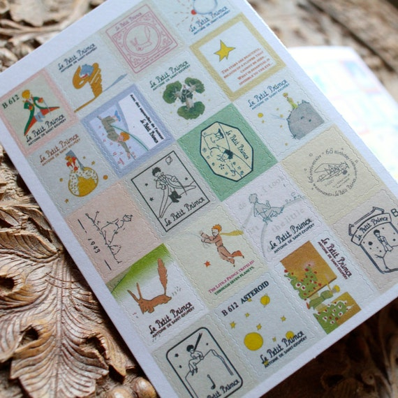 Le petit prince stamp stickers set letter writing by mycraftynell - Sticker le petit journal ...