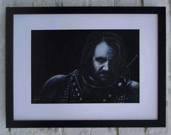 A4 Game of Thrones The Hound original pencil sketch