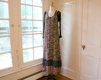 Upcycled Bohemian Dress / Recycled Sundress/ - by Breathe-Again Clothing