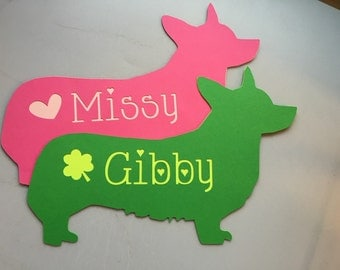 Corgi Name Cutout - Paper