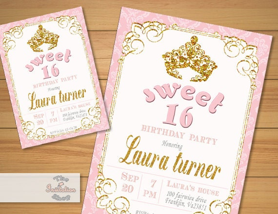 Mesmerizing image pertaining to free printable sweet 16 invitations