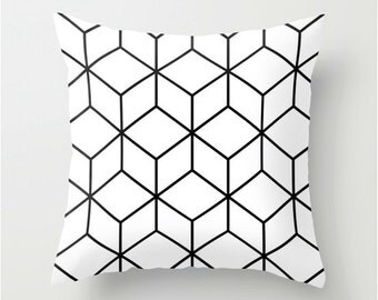 Decorative Pillow Cover, abstract Motif, cushion cover abstract, black and white Cushion cover, Decorative Pillow