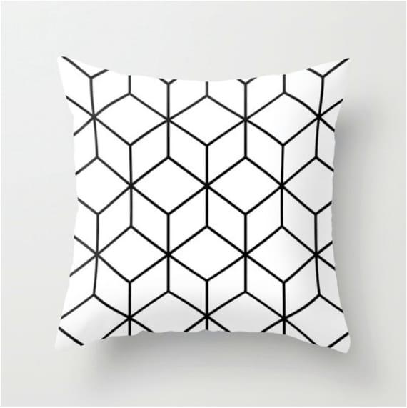 housse coussin d coratif coussin noir et blanc coussin. Black Bedroom Furniture Sets. Home Design Ideas