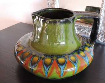 beautiful ceramic vase from Italy F.A.C.S lavorazione a Mano