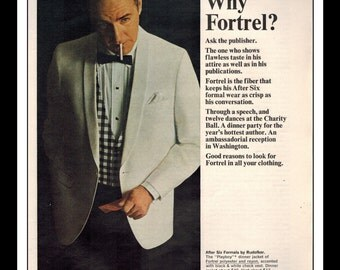 "Vintage Print Ad June 1964 : Celanese Fortrel ""Why Fortrel?"" Advertisement Color Wall Art Decor 8.5"" x 11"""