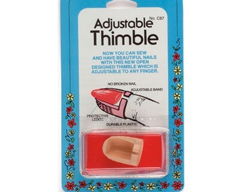 Adjustable Plastic Thimble by Collins Item # W-87