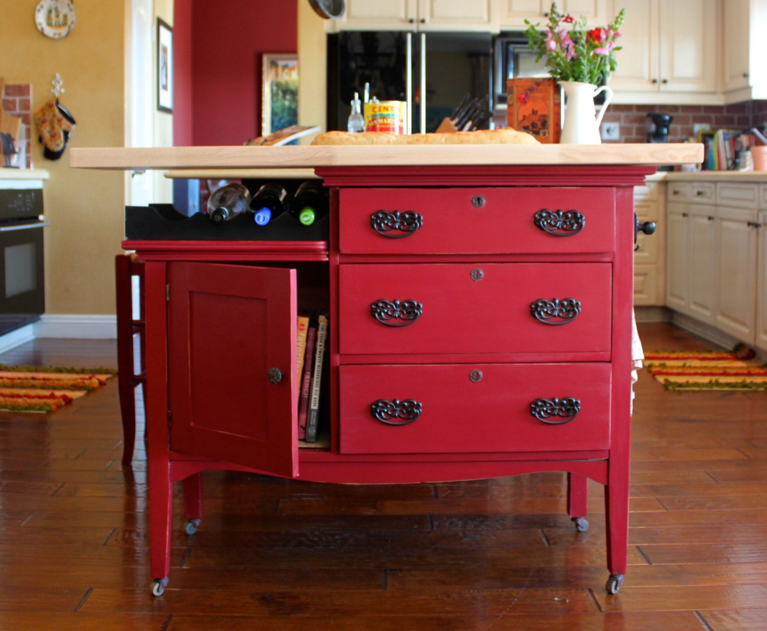 Repurposed Kitchen Island 1930s Vintage Repurposed Kitchen Island