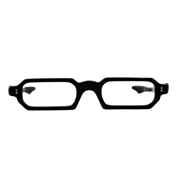 Eyeglass Frames For Narrow Bridge : the marie ... 1960s narrow black eyeglass frames