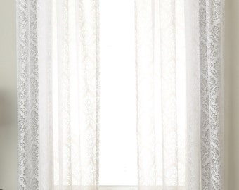 Palazzo Medallion Semi-Sheer Curtain Panel