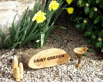 Magical Fairy Garden Sign in wood