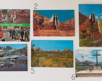 Set of 6 vintage Sedona, Arizona postcards