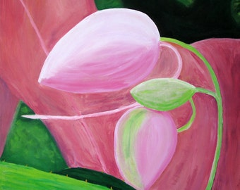 Pink buds painting